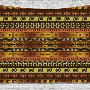 Tapestry Ethnic Linear Print Wall Hanging Backdrop